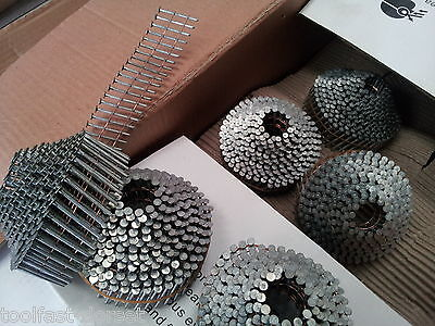 16 Degree Conical/Dome Coil Nails.Galvanised,Ring,nail gun nails. 2.1 x 32-50mm