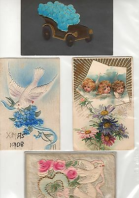 4 x  Antique Vintage Postcards Early 1900s