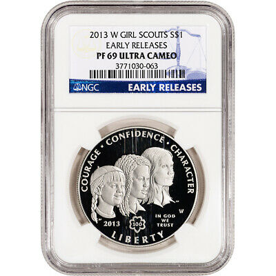 2013-W Girl Scouts Commemorative Proof Silver $1 - NGC PF69 UCAM - Early Release