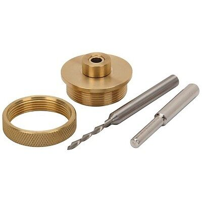 New Solid Brass Router Inlay Kit Universal bushing with retainer nut etc etc New