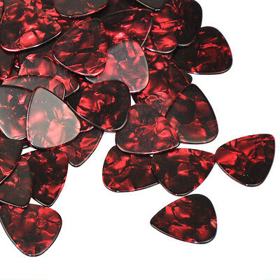 Lots of New 24pcs Heavy 1.5mm Guitar Picks Plectrums Celluloid Red Pearl