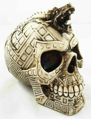 6811cd9bba4 Serpent Tribal Tattoo Head Skull Bonelike Figurine Statue Skeleton Halloween