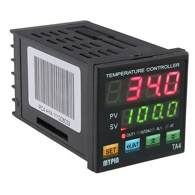 Universal Dual Digital F/C PID Temperature Controller SSR Thermocouple  K J T S