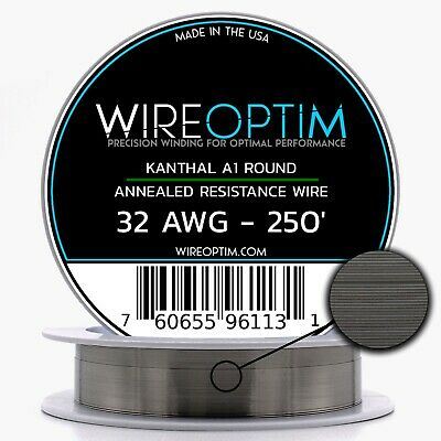 KANTHAL 32 GAUGE AWG A1 Wire 250ft Roll .20mm , 13.75 Ohms/ft ...