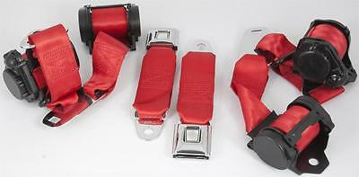 1974 - 1977 Corvette C3 Complete 3 Point Seat Belt System (Choose Color)