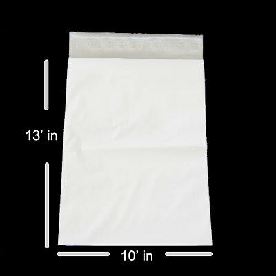 500 Pieces Premium 10 x 13 Inch White Poly Mailer Free Priority Mail Shipping