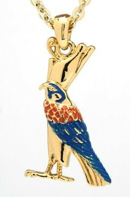 Bird Horus Falcon Necklace Ancient Egyptian Amulet Gold Colour Alloy Pendant