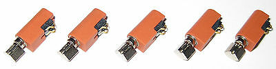 5 X Pager and Cell Phone Vibrating Micro Motors - 1 to 4.5 V - 17 mm x 7 mm