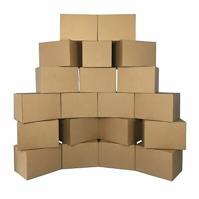 Medium Moving Boxes (20 Pack) 18x14x12-Inch Packing Cardboard Box
