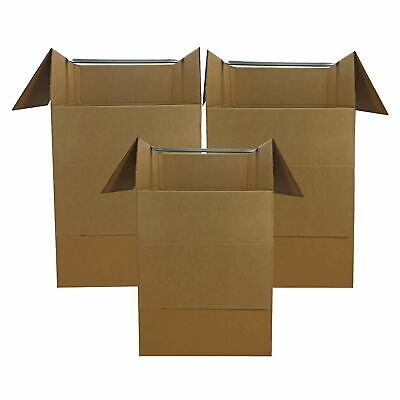 """Wardrobe Moving Boxes (Bundle of 3) Larger More Cubic Feet 24x24x40"""""""