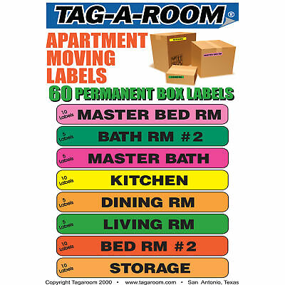 Apartment Moving Labels Identify box contents with 60 labels