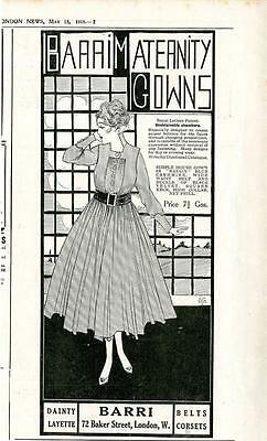 1916 Barri Maternity Gowns Layette London Ad