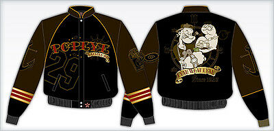 POPEYE The Sailorman King Features Adults Mens COTTON TWILL JACKET JH Design New