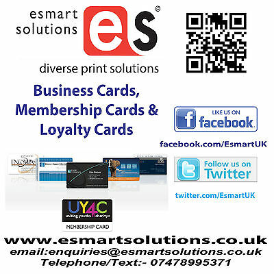 1000 x Business or Membership Plastic Cards