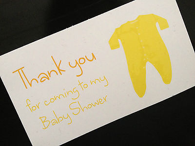 Favour Party Bag Luggage Tags Gift Guest Cards Thank you Baby Shower Girl Boy