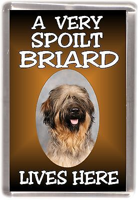 "Briard Dog Fridge Magnet ""A VERY SPOILT BRIARD LIVES HERE"" by Starprint"