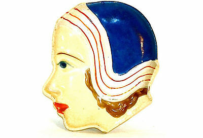 Small Art Deco Ceramic Female Face Dish