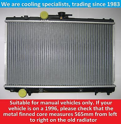 Brand New Radiator Toyota Starlet 1.3 Petrol 1996 To 1999 For Manual Vehicles