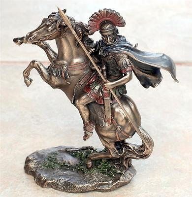 VERONESE ART ROMAN Soldier LEGIONAIRE with Spear Horse STATUE FIGURE FIGURINE