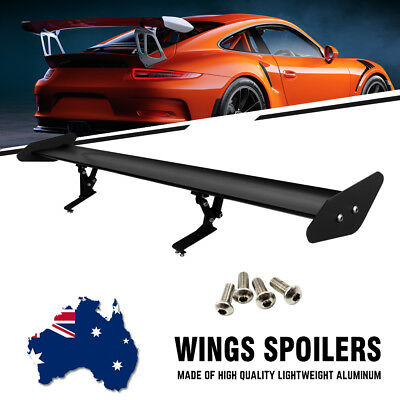 "Universal 43"" Adjustable Light Weight Aluminum Car Rear GT Wing Spoiler Racing"