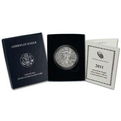 2011-W American Silver Eagle Uncirculated Collectors Burnished Coin