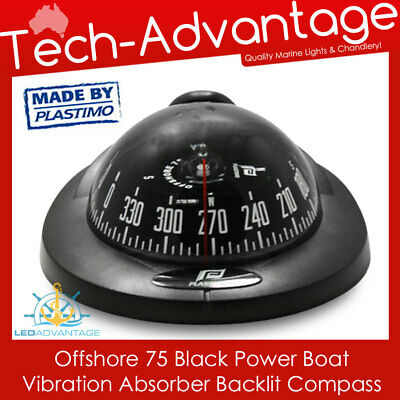 Offshore Marine Boat Black - Led Backlight Vibration Absorber Australia Compass