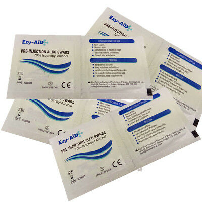 ISOPROPYL ALCOHOL SWABS, NHS Quality Wipes Tattoo Disinfectant Nail CPU Heatsink