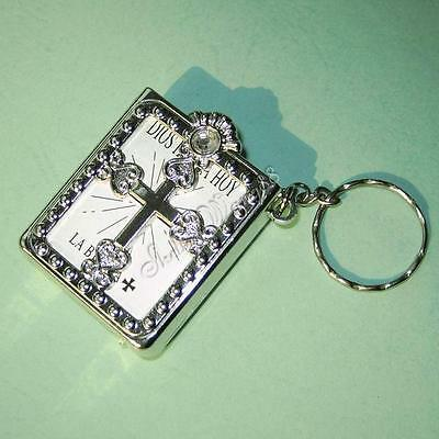 MINI Holy BIBLE Keyring KEY CHAIN CRAFTS VBS Christian MINIATURE Jesus Gift
