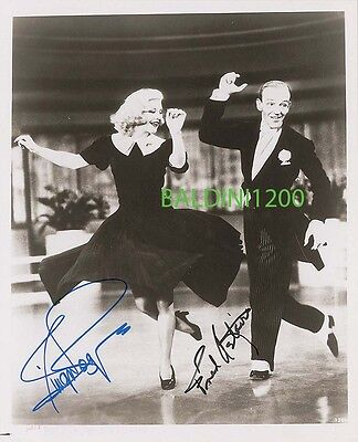 Fred Astaire & Ginger Rogers Signed 10X8 Photo, Looks Great Framed