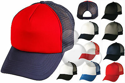 Trucker Cap 15 Colours to Choose From! Contrast Hat Adults Mens Ladies Truckers