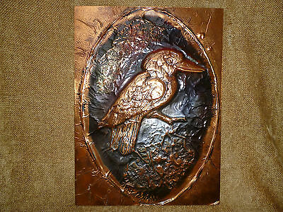 LARGE KOOKABURRA WALL PLAQUE - EMBOSSED COPPER - Excellent condition