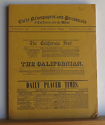 Early Newspapers and Periodicals of California and the West 1970 Catalog