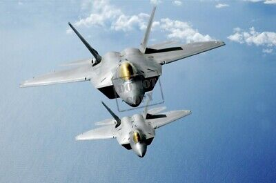 US AIR FORCE USAF F-22A Raptor Thunderbird F-16s AIRCRAFT 8X12 PHOTOGRAPH