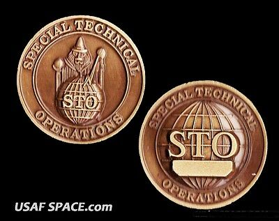 Original - Sto - Special Technical Operations - Usaf - Dod - Nro Challenge Coin