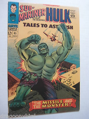 Tales To Astonish 85 FNVF Vintage Old Collectible Marvel Comic Book