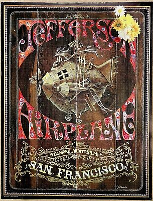 Jefferson Airplane Original 1967 Fillmore 1st Print Style B Promo Poster