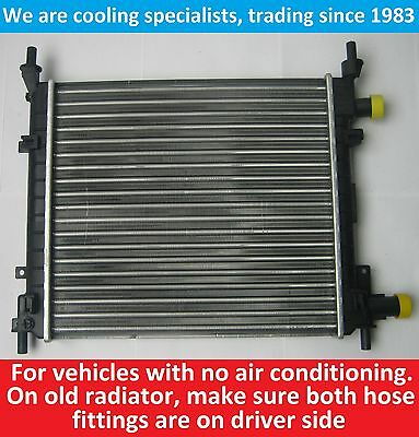 Brand New Radiator Ford Ka 1.0/1.3 Petrol 1996 To 2008 For Cars Without Air Con