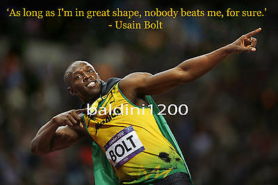 Usain Bolt - Beautiful Poster  Print With Quote - Looks Awesome Framed