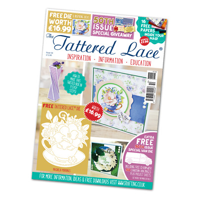 Tattered Lace Issue 50 Magazine with 2 FREE Dies & CD - FREE Fast UK P&P