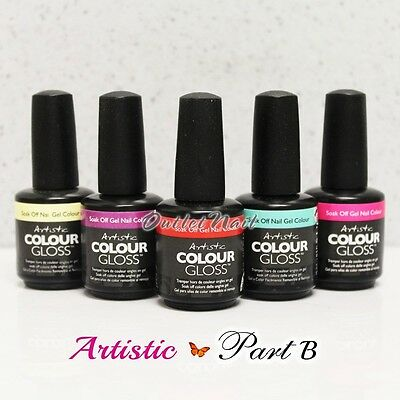 Artistic Nail Design >> PART B Colour Gloss Soak Off Gel Colour - SHIP IN 24H