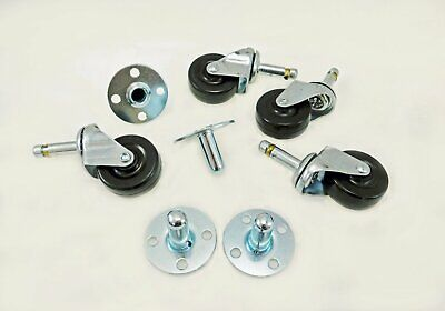 "4 Penn Elcom 5295 2"" Plug-In Replacement Fender Amp Casters WheelsW/Sockets"