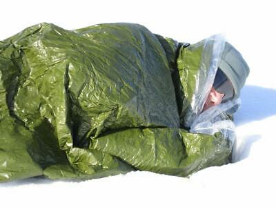 Blizzard Survival Sleeping Bag Bivvy Green Thermal Blanket Mylar IFAK Camping