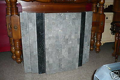 70's Maitland Smith  Tessellated Stone & Brass Inlay Foyer Console