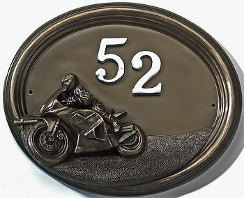 Super Bike Motorbike - House Sign / Plaque with Number