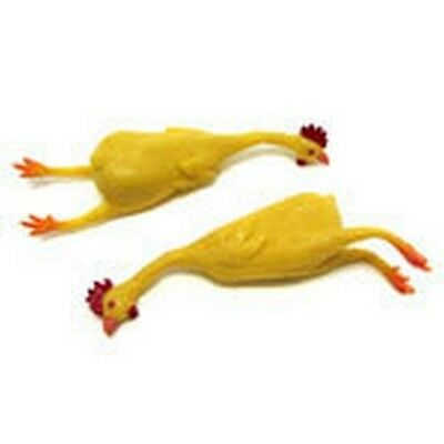 "8"" Stretch Rubber Chicken Squeeze Stretchy Gag Gift Classic Novelty Funny Yellow"