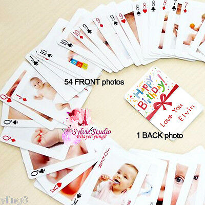 Children's Day CUSTOM GIFT Personalize Playing Cards PhotoPoker Birthday.Wedding