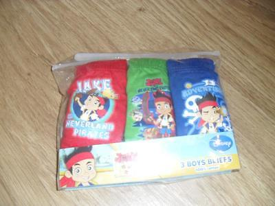 BNIP Jake and the neverland pirates 3 pack of boys briefs 100% cotton