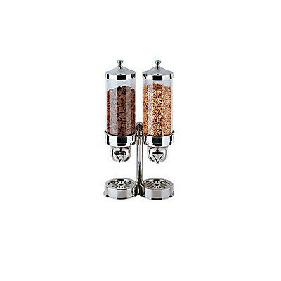 Cereal Dispensing Double Tower - Easy Breakfast Serving for Buffets & Catering