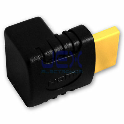 High Quality HDMI Right Angle 90 Degree Elbow Connector Male to Female Gold Plat