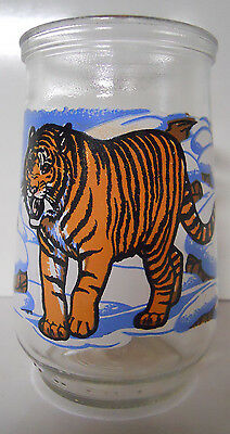 1995 Welch's Endangered Species Collection Jelly Jar Glass #5-Siberian Tiger